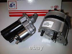 Fits Ford Capri & Sierra 1.6 2.0 Ohc Pinto New Starter Motor + 55amp Alternator