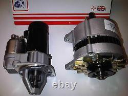 Ford Escort Mk2 Rs2000 2.0 Ohc Pinto Uprated Starter Motor + 55amp Alternator