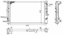 Radiator, engine cooling for ALPINA AUDI BMW MAGNETI MARELLI 350213739003