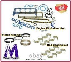 Ford 2.3l Engine De L'ohc Renforcement Renforcement Exterieur Cuisine Rings+rod Brgs+gkts