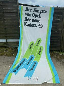 Neu + Opel Original Kadett A B C D E Fahne Reklame Banner Werbung